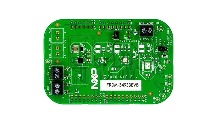 FRDM-34933EVB : Freedom Expansion Board, MC34933, H-Bridge Motor Driver, 2-7V, 1.4A, 200kHz thumbnail