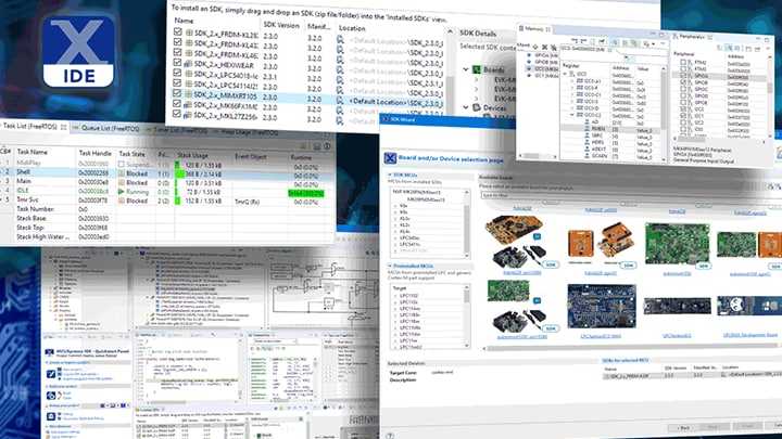 MCUXpresso IDE is an Eclipse-based IDE for simple debug, edit and compile