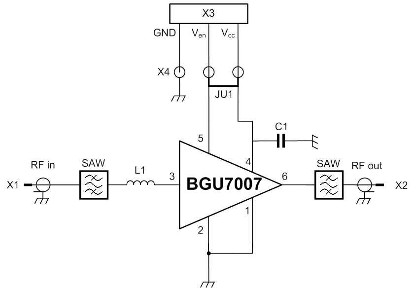 OM7806 : GPS low-noise amplifier front-end evaluation board using BGU7007 thumbnail