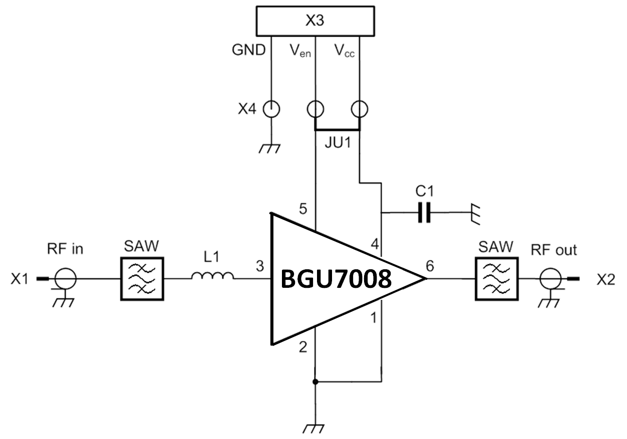 OM7815 : GPS low-noise amplifier front-end evaluation board using BGU7008 thumbnail