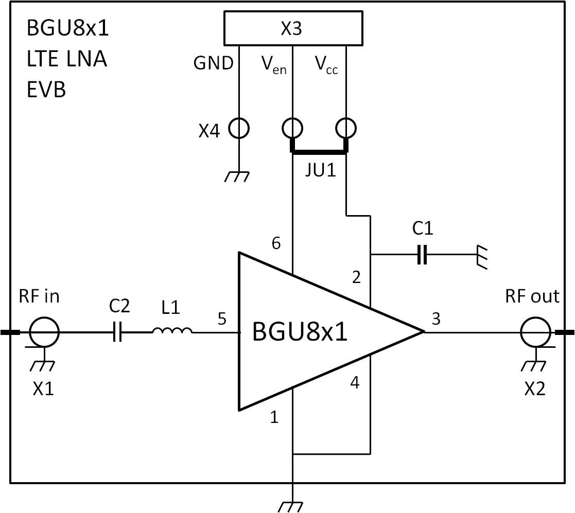 OM7885 : BGU8M1 LTE LNA evaluation board thumbnail