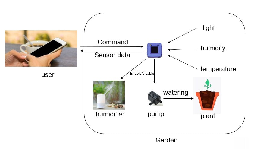 Botanical Garden Design with Rapid IoT