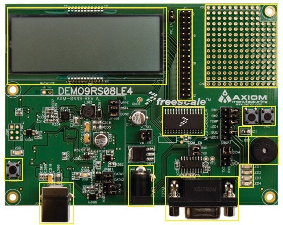 DEMO9RS08LE4 : RS08LE Demonstration Board thumbnail