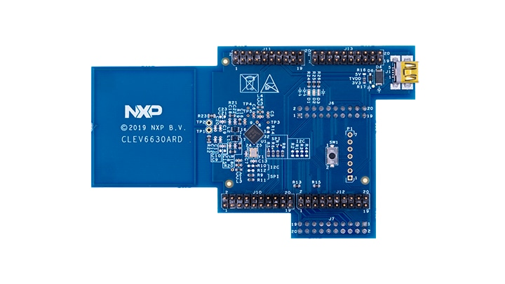 CLEV6630ARD: NFC frontend CLRC663 <i>plus</i> Arduino<sup>&reg;</sup> interface board