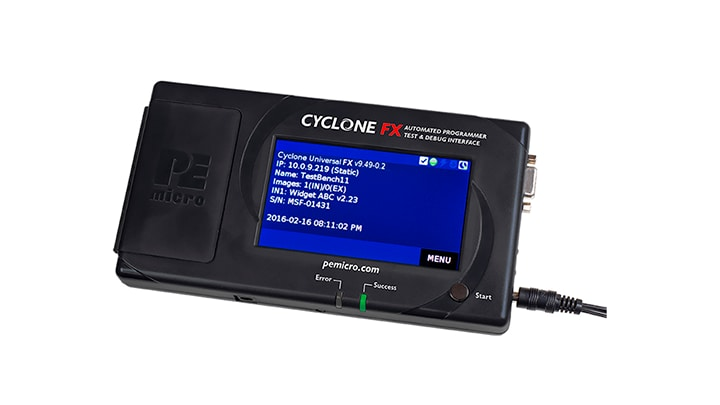 Cyclone-FX: In-Circuit, Stand-Alone Production Programmers