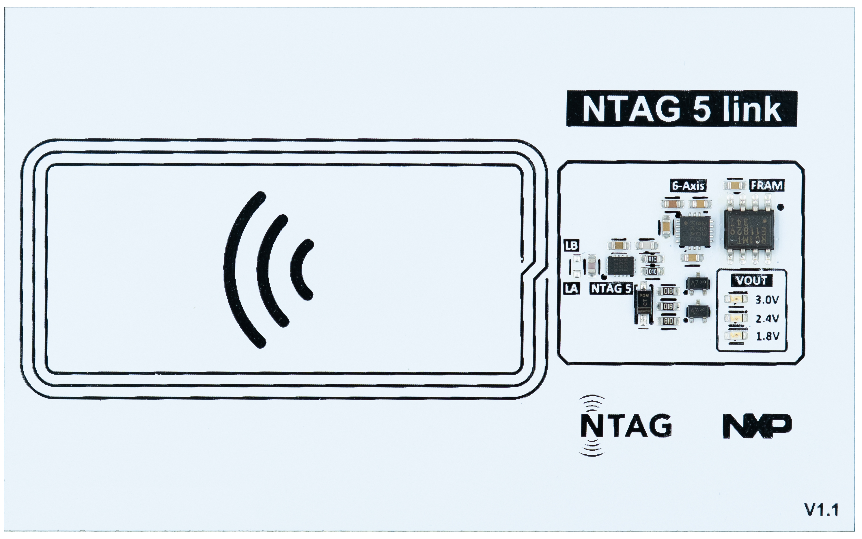 NTAG 5 link demo board
