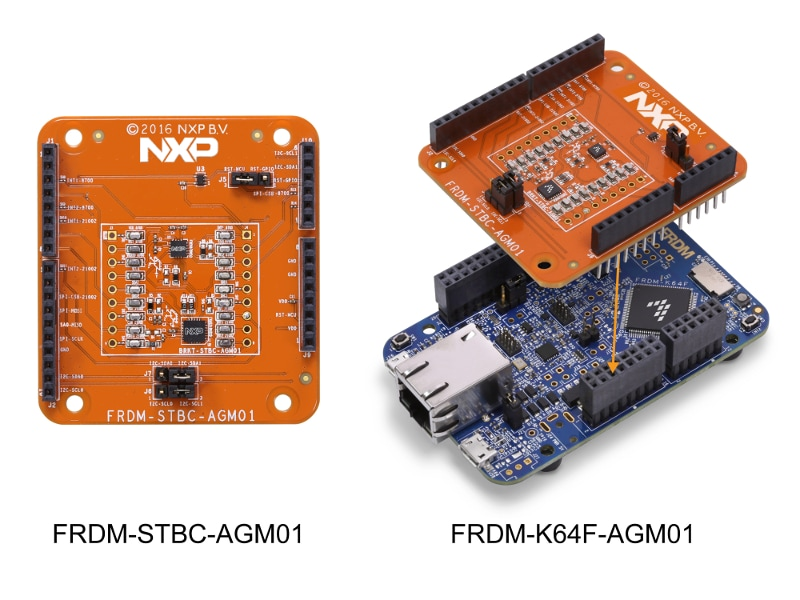 FRDM-STBC-AGM01 Sensor Shield Development Board and FRDM-K64F-AGM01 Demonstration Kit
