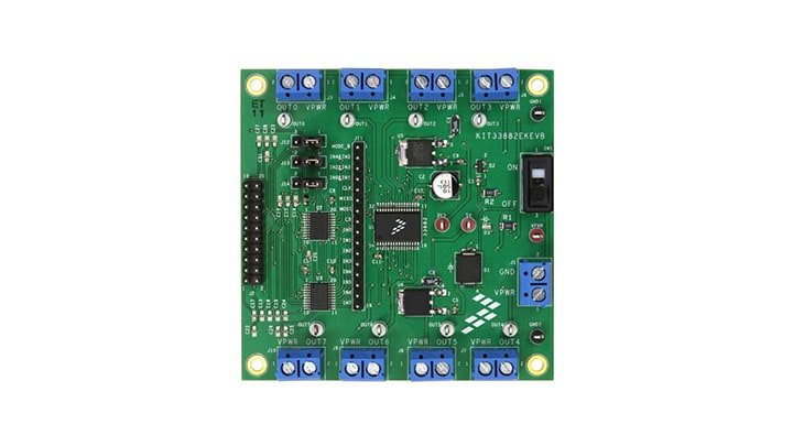 KIT33882EKEVB : Evaluation Kit MC33882 -Smart Six Output Switch (0.3 Ohm RDSon) with SPI and Parallel Input Control thumbnail