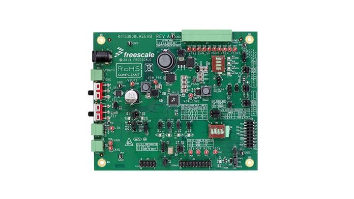 KIT33908LAEEVB : Evaluation kit - MC33908, Safe SBC with Buck, Boost, LIN thumbnail