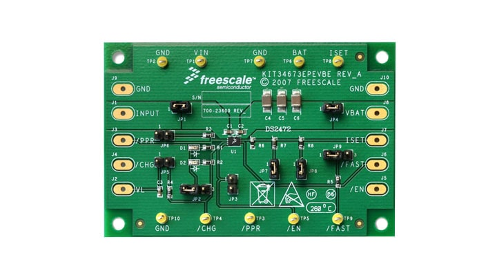KIT34673EPEVBE : Evaluation Kit - 34673, Single-Cell Li-Ion/Li-Poly Charger thumbnail