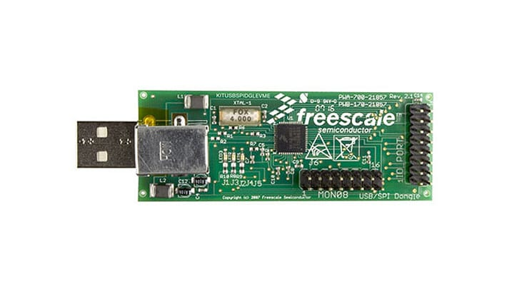 KITUSBSPIDGLEVME : Evaluation Kit - USB-SPI Interface, MC68HC908JW32, Dongle thumbnail