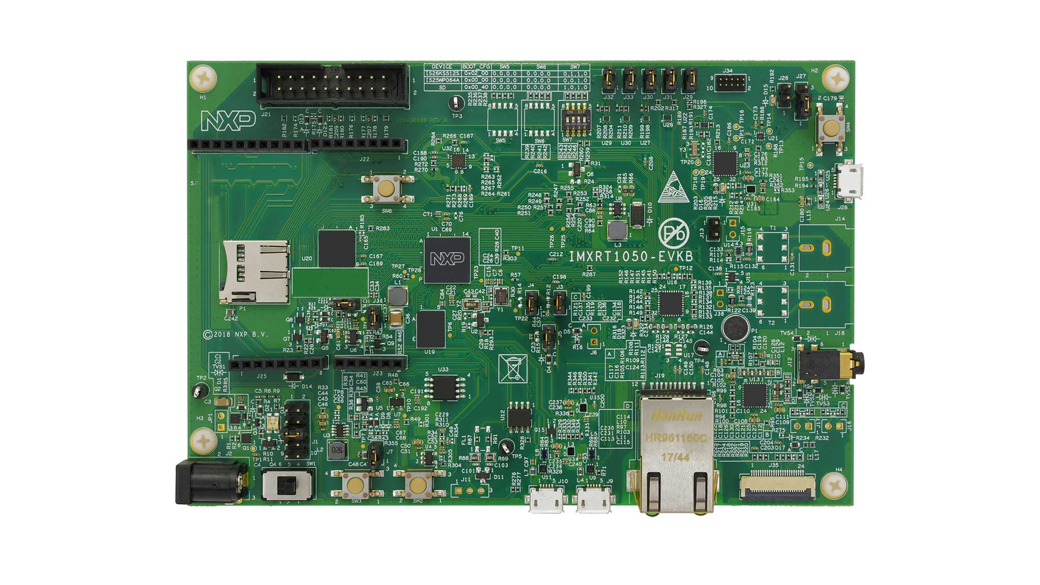 MIMXRT1050-EVK low cost evaluation kit for Cortex-M7