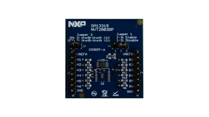 OM13319 : OM13319: NVT2003DP Demo board, three channel bi-directional voltage level translator thumbnail