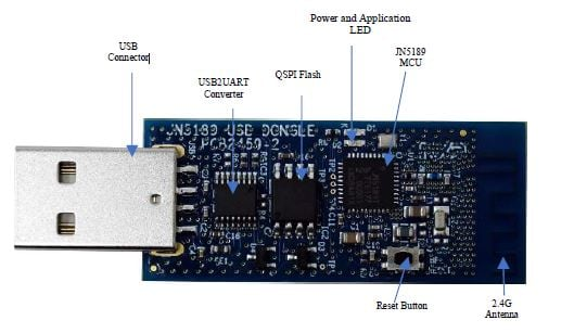 OM15080-JN5189 : JN5189 USB Dongle for Zigbee and Thread network thumbnail