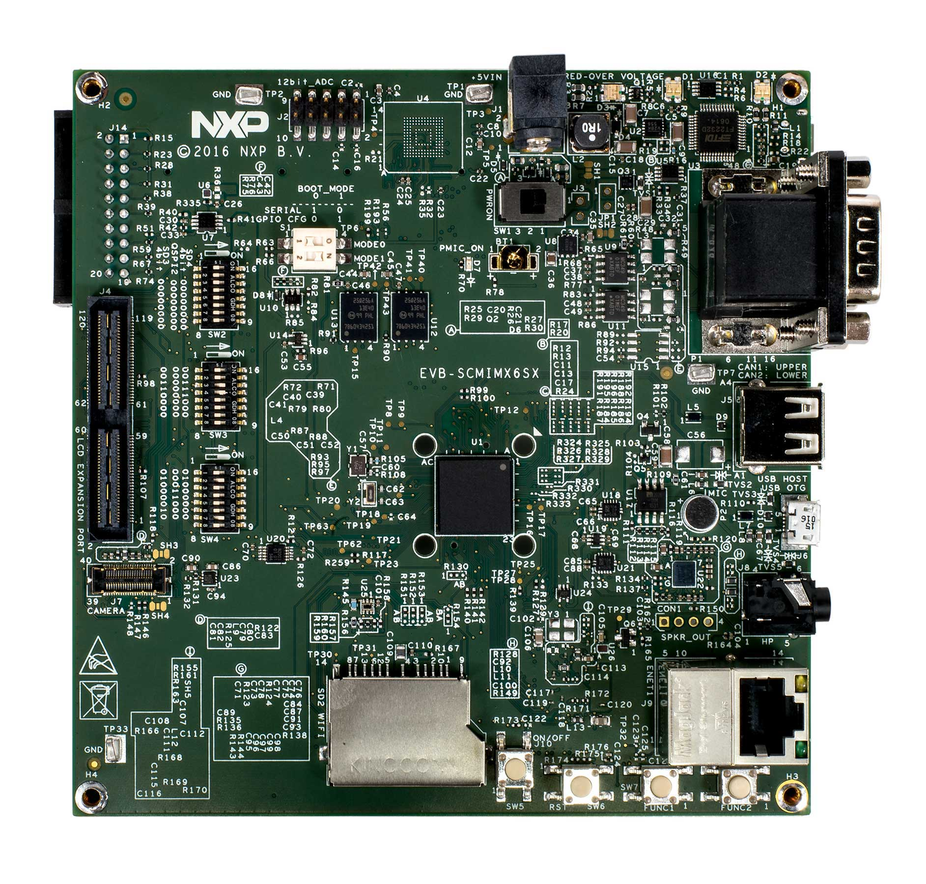SCM i.MX 6SX Evaluation Board Top View