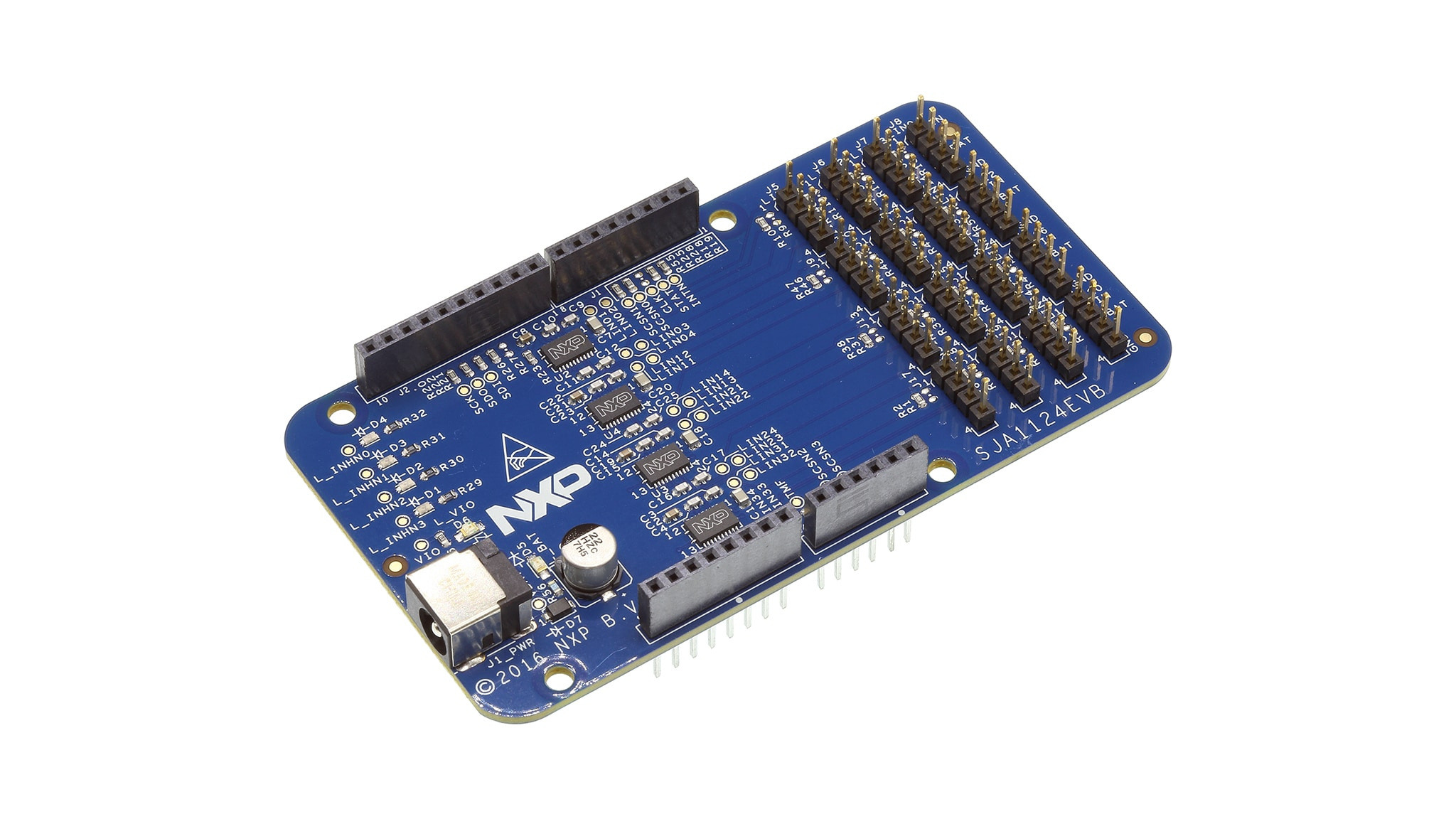 SJA1124EVB: Evaluation Board for SJA1124 SPI to Quad-LIN Bridge