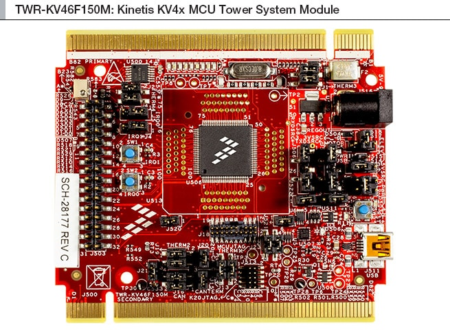 Kinetis<sup>&#174;</sup> KV4x MCU Family Tower<sup>&#174;</sup> System Module Block Diagram