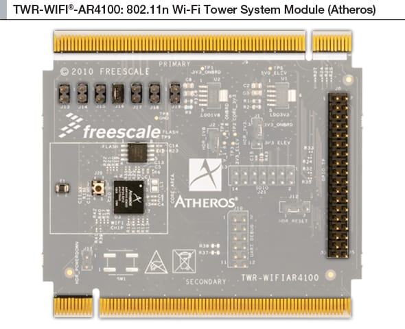 NXP<sup>&#174;</sup> Tower<sup>&#174;</sup> TWR-WIFI-AR4100 Evaluation Board