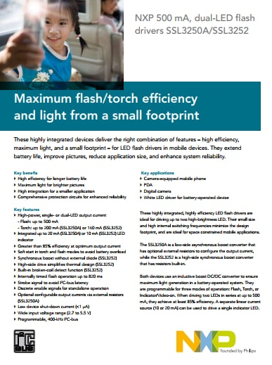 maximum flash torch efficiency and light from a small footprintSsl3250a Photo Flash Led Driver #8