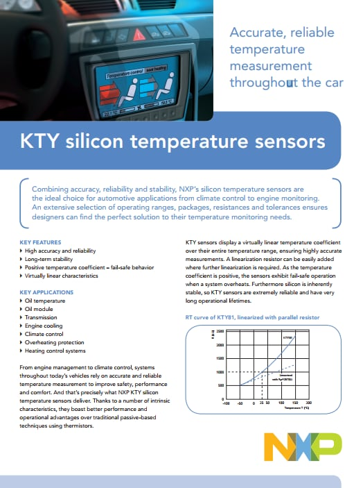 KTY silicon temperature sensors