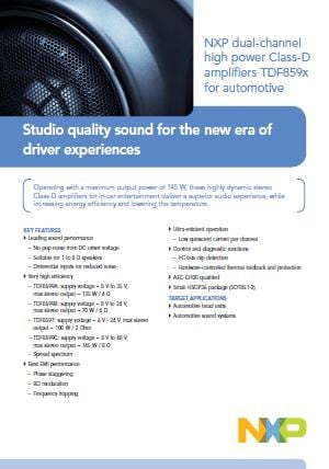 Studio quality sound for the new era of driver experiences