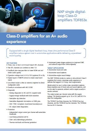 Class-D amplifiers for an A+ audio                         experience