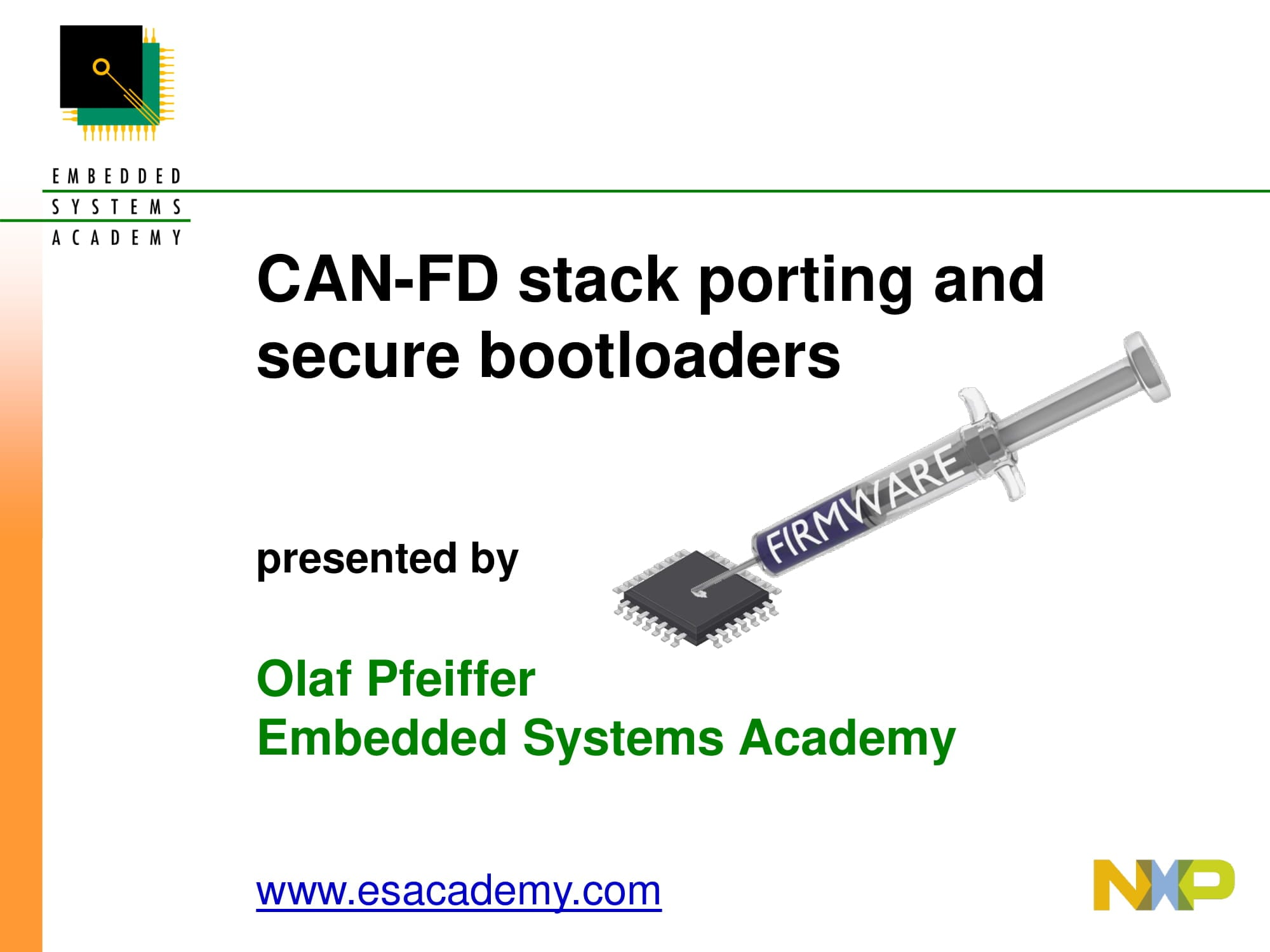 CAN-FD stack porting and secure bootloaders