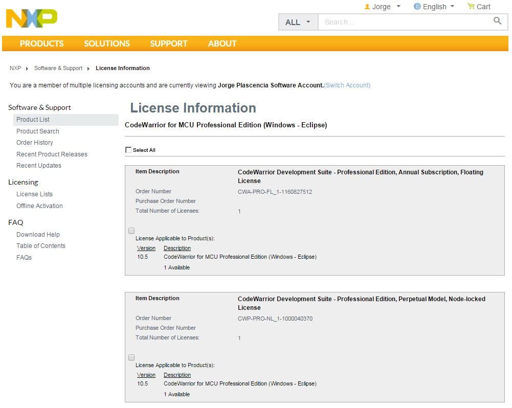 CodeWarrior Development Suites - Registration | NXP