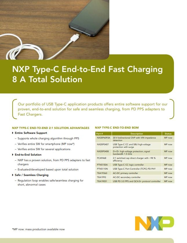 Type-C End-to-End Fast Charging Solution Link