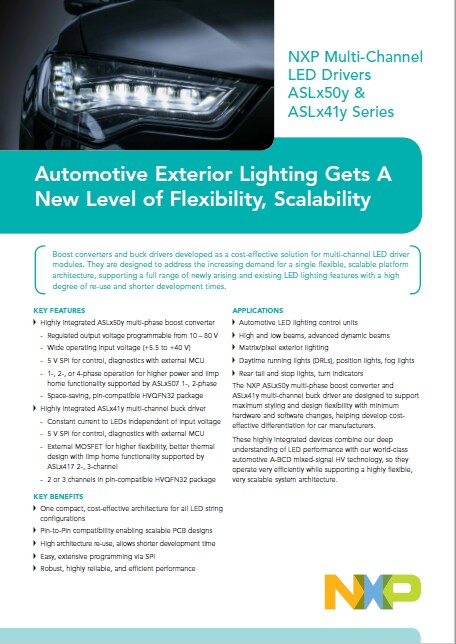 Flexible, Scalable Exterior Lighting for Automotive