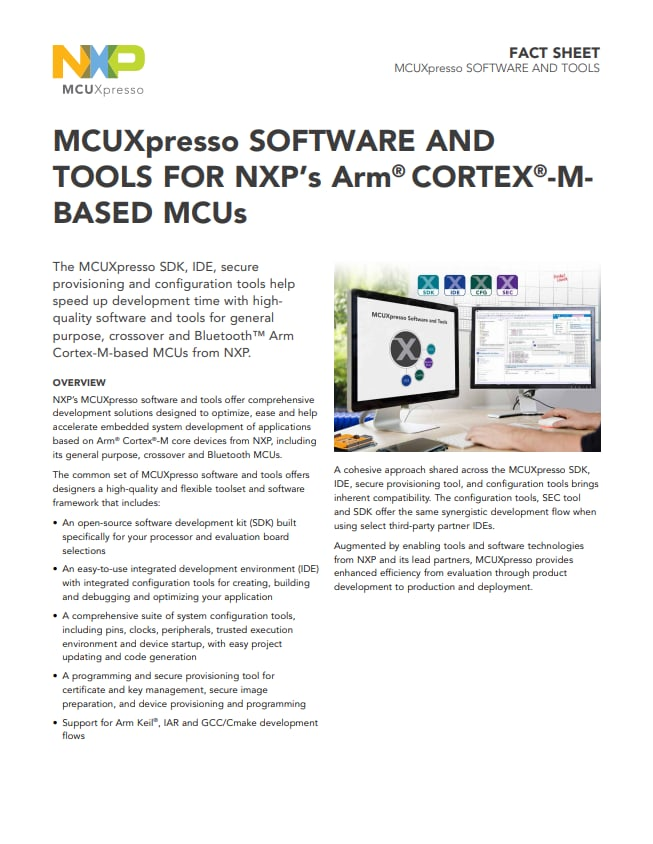 MCUXpresso Software and Tools
