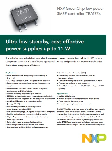 ultra low standby, cost effective power supplies up to 11 w