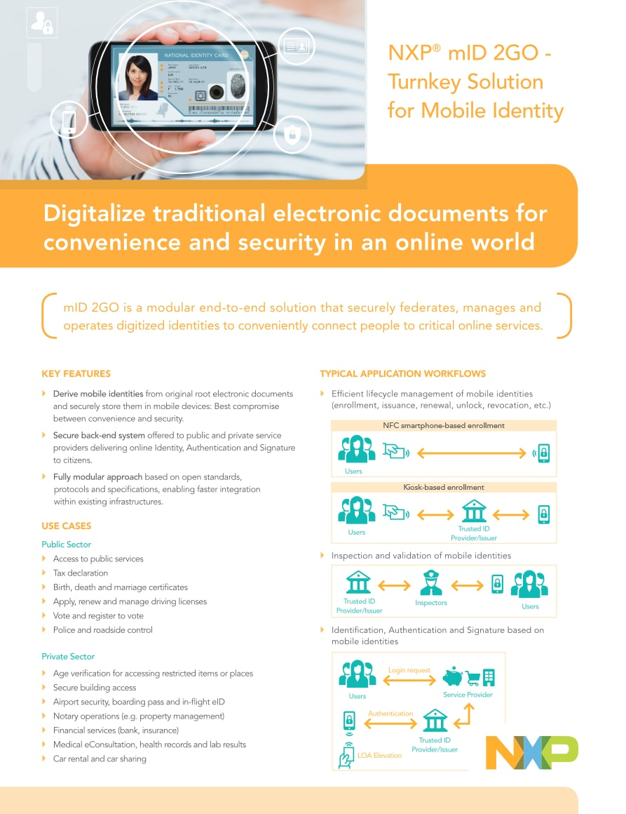 NXP mID 2GO - Turnkey Solution for Mobile Identity