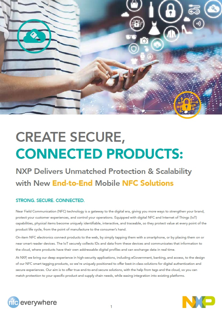 End-to-End Mobile NFC Solutions - Brochure Image
