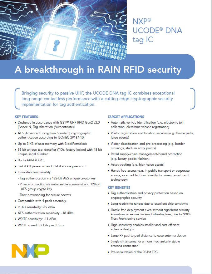 UCODE DNA tag IC - A breakthrough in RAIN RFID security
