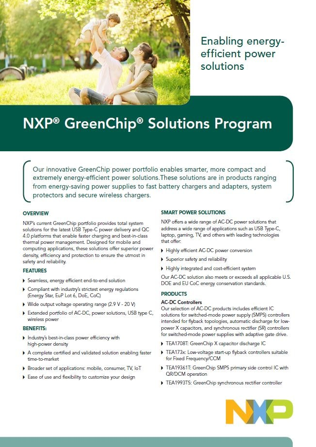 NXP GreenChip Solutions Program