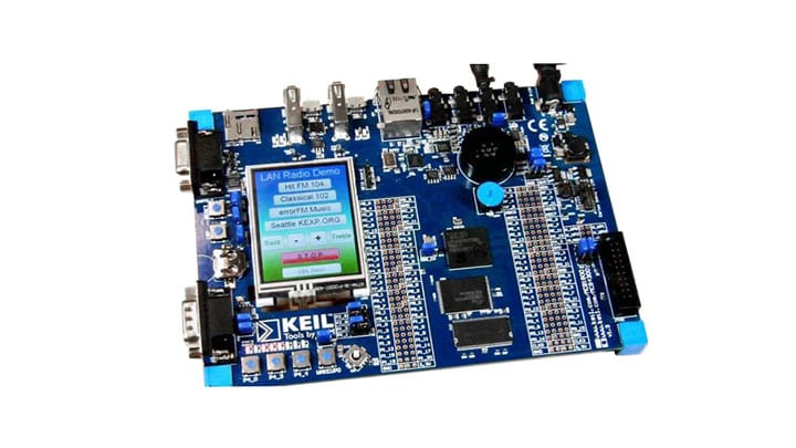 Keil MCB4357 Evaluation Board and Internet Radio Solution