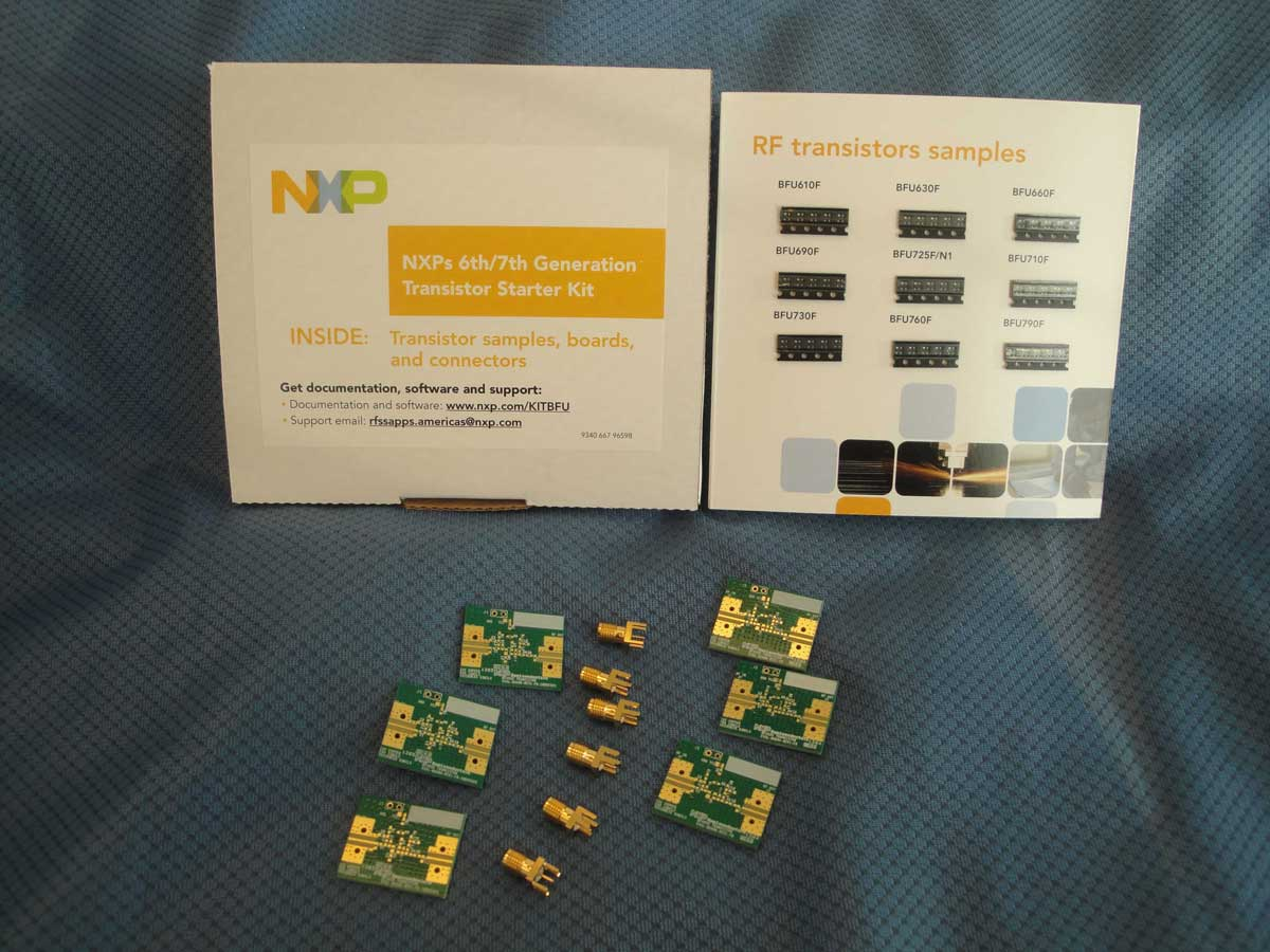 OM7827 : RF Transistor Starter kit for NXP RF wideband transistors BFU6x0F and BFU7x0F thumbnail