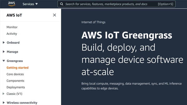 S32G tools qualified for AWS IoT Greengrass 2.0 image