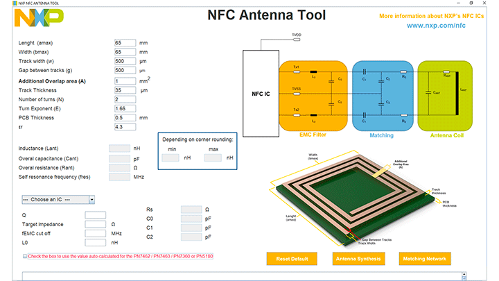 NFC Antenna Design GUI