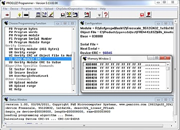S12Z In-Circuit Flash Programmer Software