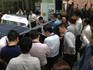 NXP Singapore Employees event meet solar car Stell