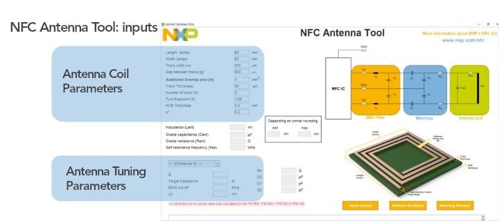 Figure 2 - NFC Antenna Design tool GUI