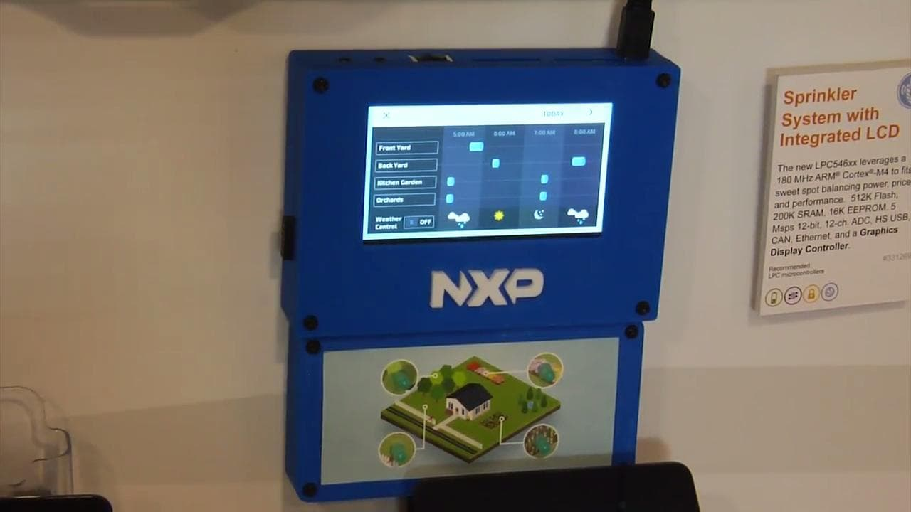 Smart Sprinkler Management Demo Showcases LPC546xx MCU in Action  thumbnail